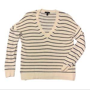 J.Crew | Stripe V-neck Sweater